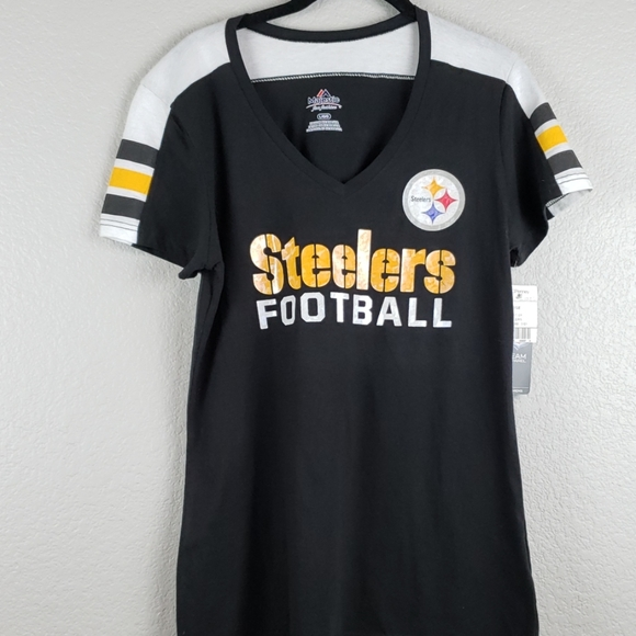 NWT NFL MEN/'S Pittsburgh Steelers Football fan Short Sleeves Football T-Shirt